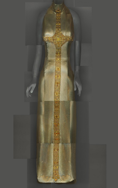 Evening Dress, Gianni Versace for House of Versace, autumn/winter 1997–98; The Metropolitan Museum of Art, Gift of Donatella Versace, 1999 (1999.137.1) Image courtesy of The Metropolitan Museum of Art, Digital Composite Scan by Katerina Jebb