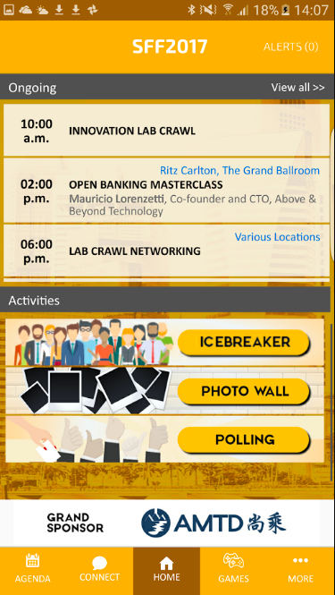 SFF event app. Image source: Google Playstore
