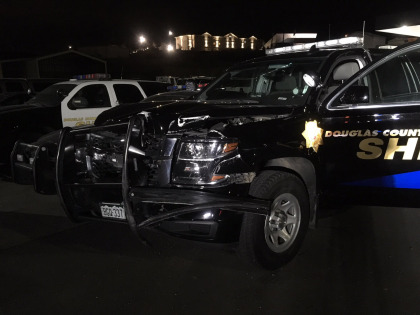 dcso felony stop crash pic1 2 Arrested After Ramming Sheriffs SUV