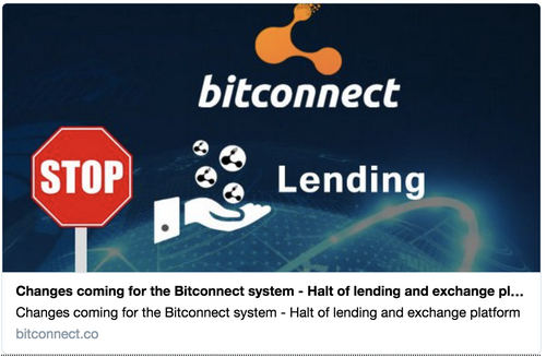 Bitconnect Shuts Down Its Exchange, Citing a String of Excuses