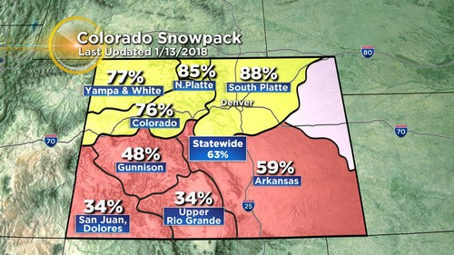snowpack Latest Forecast: Backdoor Cold Front Arrives Late Sunday