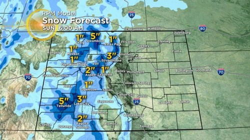 21 Latest Forecast: Finally, First Widespread Mountain Snow Since Christmas