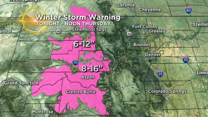 2 Latest Forecast: Storm In California Heading For Colorado Next