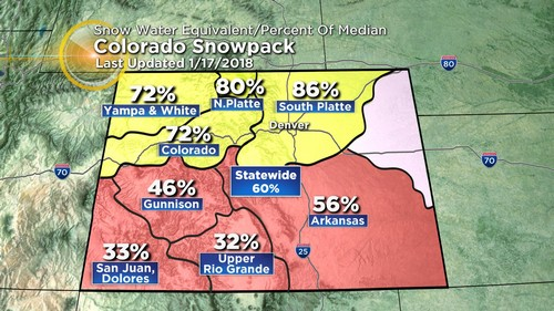 snowpack Latest Forecast: Turning Warmer, Then Windy & Colder By Friday
