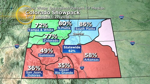 snowpack Latest Forecast: Warming Trend Before Mid Week Front