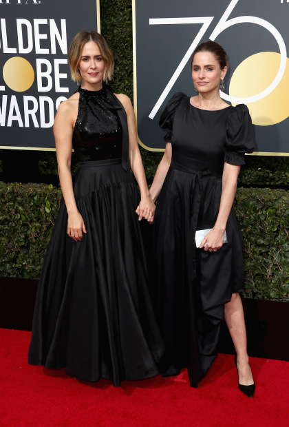 gettyimages 902339642 Strong Statement Made At Black Draped Golden Globes