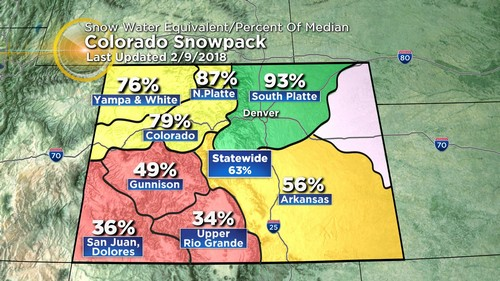 snowpack Latest Forecast: A Shot Of Cold Air For Monday