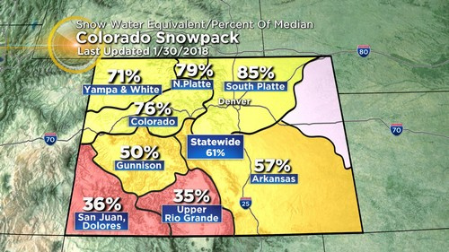 snowpack Latest Forecast: Unsettled With Busy Jet Stream Overhead
