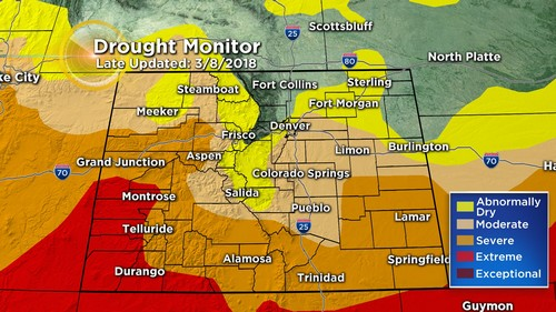drought monitor Latest Forecast: Few Light Showers & Cooldown On The Way