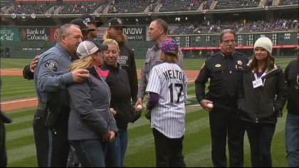 rockies first pitch 6sotvo frame 452 Fallen Deputies Honored During First Pitch At Rockies Home Opener