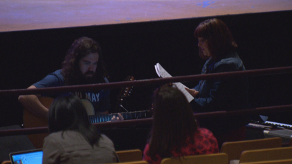 north hs rock of ages 6pkg frame 357 Schools Need Musicals: Rival Schools Team Up On Stage