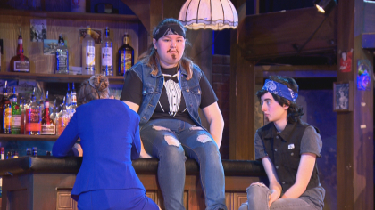 north hs rock of ages 6pkg frame 327 Schools Need Musicals: Rival Schools Team Up On Stage