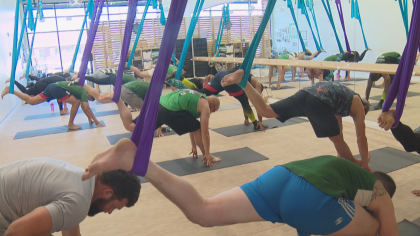 aerial yoga transfer frame 196 Aerial Yoga: An Elevated Experience