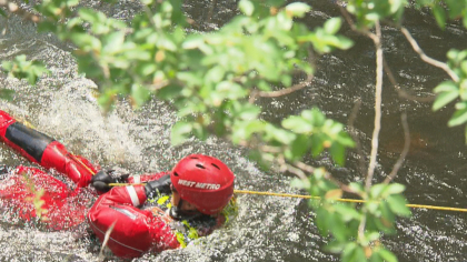 water safety 5pkg frame 180 Crews Practice Water Rescue In Rushing Waters Of Clear Creek