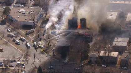 copter wednesday emerson fire 1230pm frame 9854 Investigators: Undetermined Cause Of 18th & Emerson Construction Fire