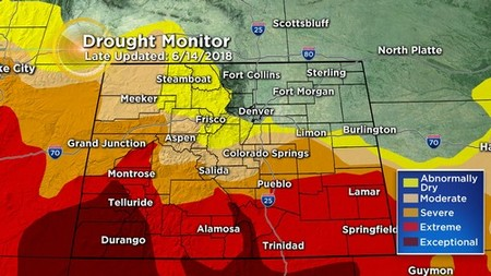 drought monitor Latest Forecast: Cloudy, Cool & Wet Fathers Day For Much Of Colorado
