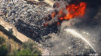 recycling fire 2 Burning Pile Of Recycling Puts Out Thick, Black Smoke Over Denver