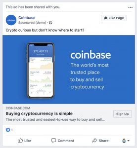 Coinbase Gets $20 Billion Prime Client, Ads Back on Facebook