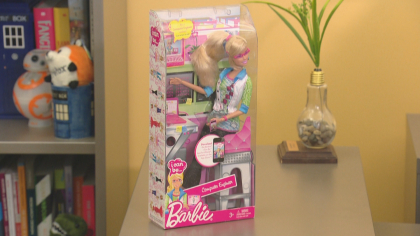 better barbie 10pkg frame 1374 CU Professor Helping Shape Barbies Future Image On The Job