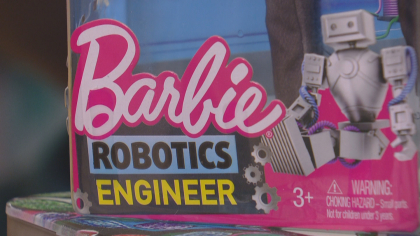 better barbie 10pkg frame 1074 CU Professor Helping Shape Barbies Future Image On The Job