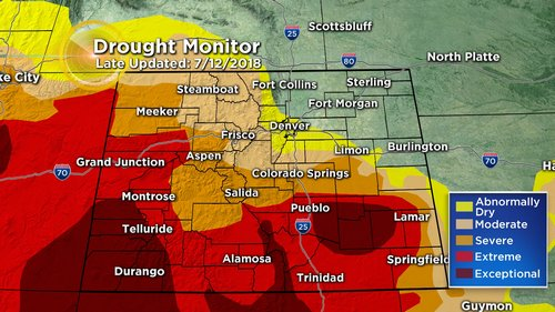 drought monitor Latest Forecast: Cooler With Widespread T Storms, Some Flash Flooding Possible