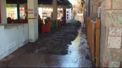 manitou clean up 5vo transfer frame 412 Manitou Springs Breaks Out Shovels & Mops Day After Flash Flooding