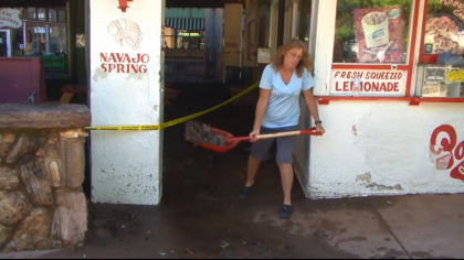 manitou clean up 5vo transfer frame 193 Manitou Springs Breaks Out Shovels & Mops Day After Flash Flooding