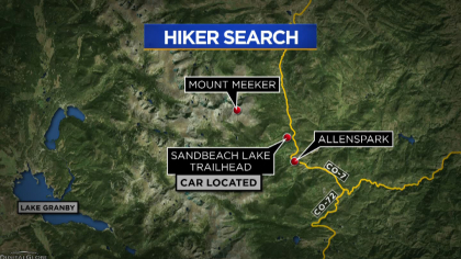 mount meeker search map frame 824 Missing Hikers Friend Continues Exhaustive Search