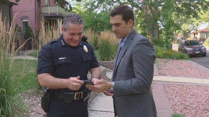 dpd new chief 10pkg transfer frame 501 New Denver Police Chief Reflects On Growing Up In Community He Serves