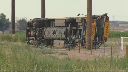 bus rollover 10pkg frame 761 State Troopers: Truck Driver Fell Asleep Before Crashing Into School Bus