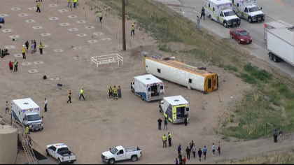 school bus crash 1 State Troopers: Truck Driver Fell Asleep Before Crashing Into School Bus