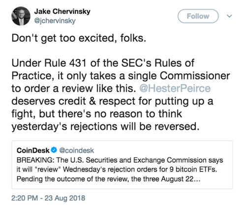 Who Needs a Bitcoin ETF? Crypto Scoffs at SEC Rejections
