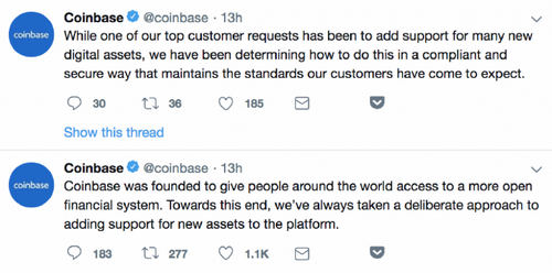 Coinbase Opens Its Doors to an Array of Altcoins