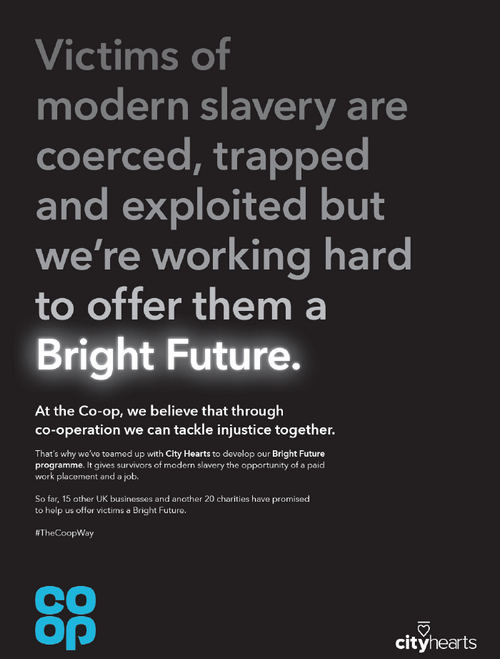 Co-op highlights plight of modern-slavery victims in campaign to coincide with Anti-Slavery Day