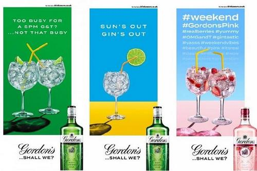 Diageo has launched a responsive out-of-home campaign