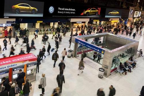 JCDecaux: Europe's largest indoor ad screen at London Waterloo
