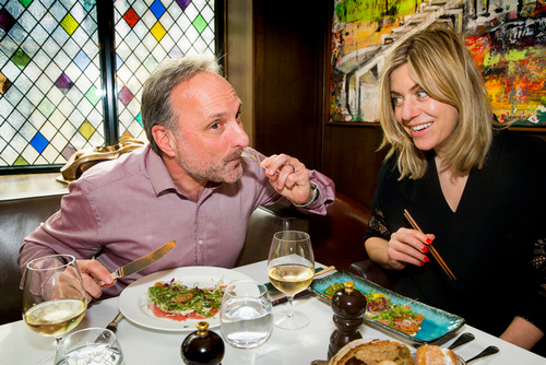 Out to Lunch with David Emin and Camilla Harrisson