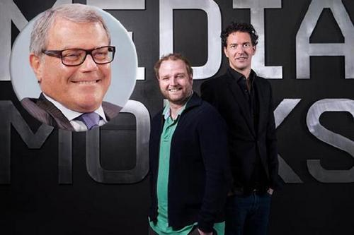 MediaMonks: Sorrell (insert) with agency founders Wesley ter Haar and Victor Knapp