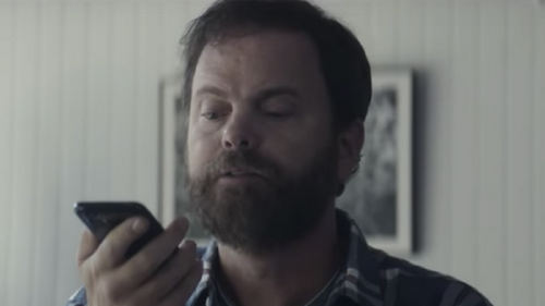 In a T-Mobile online video, actor Rainn Wilson demonstrates the value of human agents.