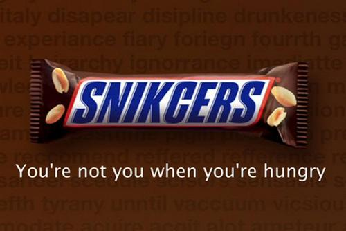 Snickers: the global 'Hungerithm' campaign was created in Australia
