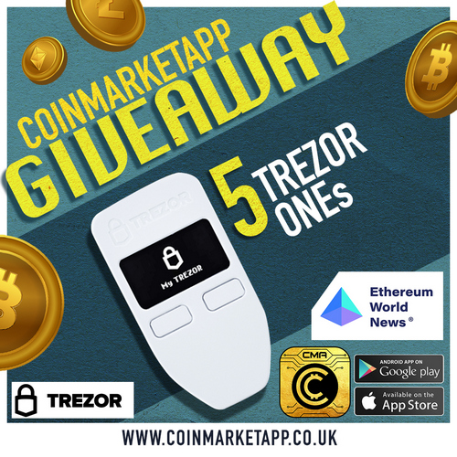 We Are Giving Away x5 Trezor One!