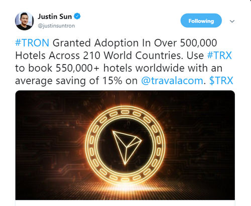 Book your room with TRX and other crypto