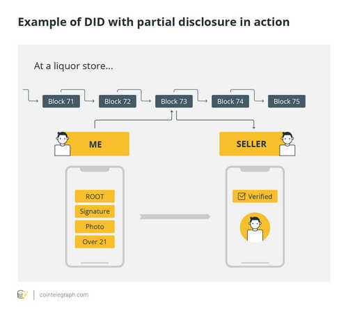 Example of DID with partial disclosure in action