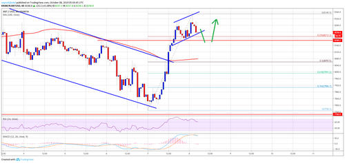 Bitcoin Price (BTC) Rebounding But $8.5K Resistance Holds Key