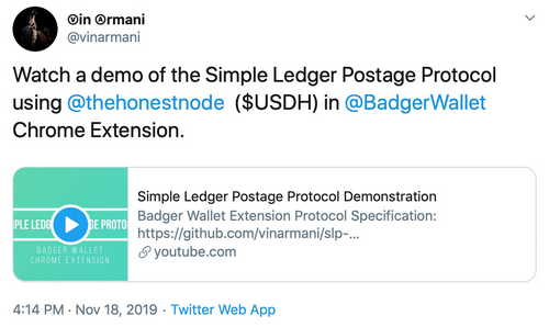 Cointext Founder Publishes New 'Postage' Specs for SLP Tokens