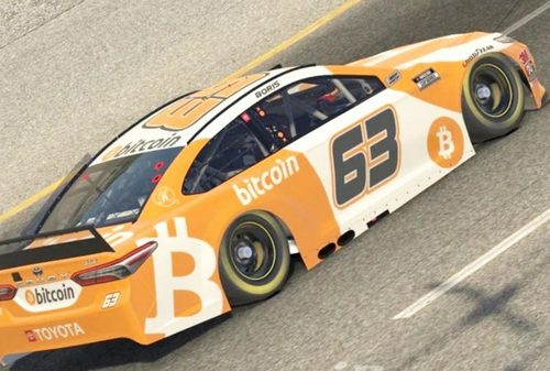 Bitcoin Car Finishes First in Virtual NASCAR Race Beating Champions Like Kyle Busch