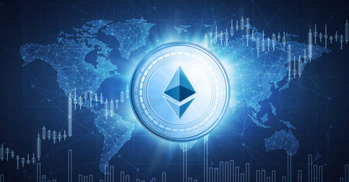 Ethereum coin circulation in trading markets across the world