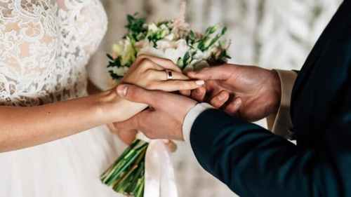 The couple got married on the Ethereum blockchain and used the rings in the form of NFT tokens