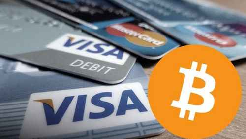 How does the Visa payment system work with cryptocurrency platforms?